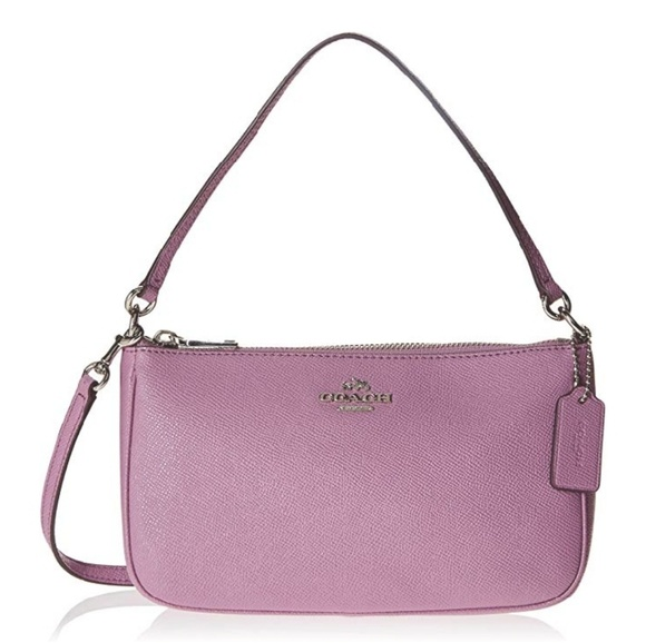 Coach Handbags - COACH Top Handle Crossbody Leather Pouch